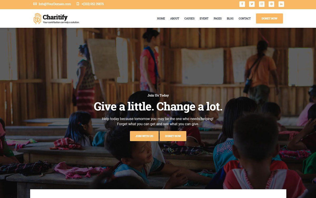 Charitify Website Template image
