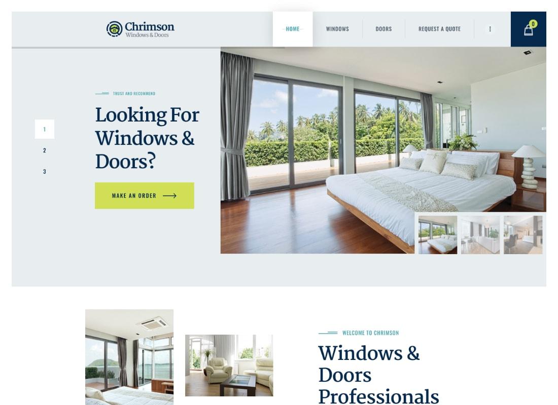 Chrimson | Windows & Doors Services + Store WordPress Theme