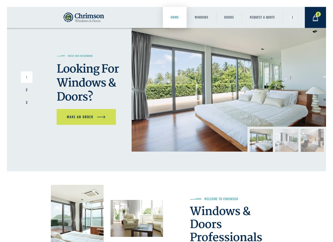 Chrimson | Windows & Doors Services WordPress Theme