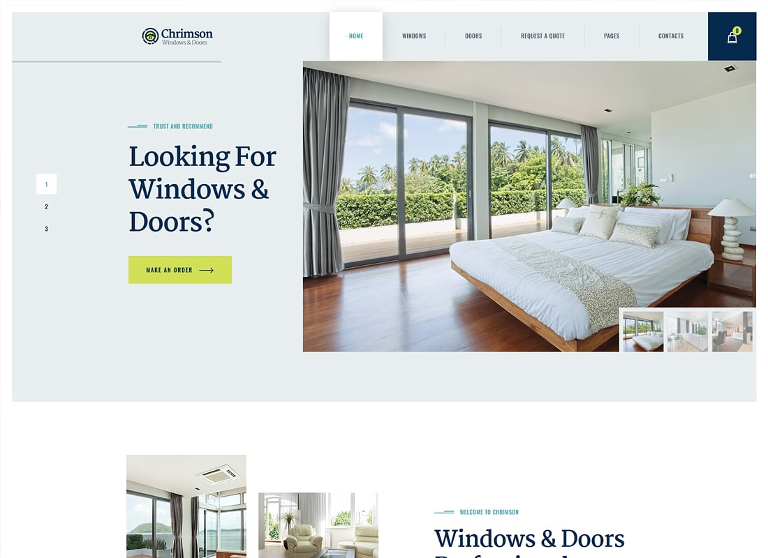 Chrimson | Windows & Doors Services Luxury WordPress Theme