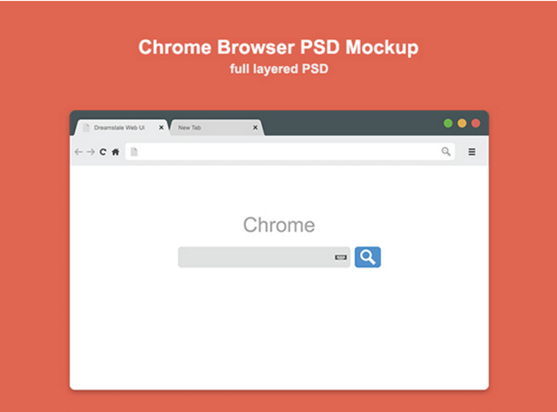 Chrome Browser Mockup (Freebie)