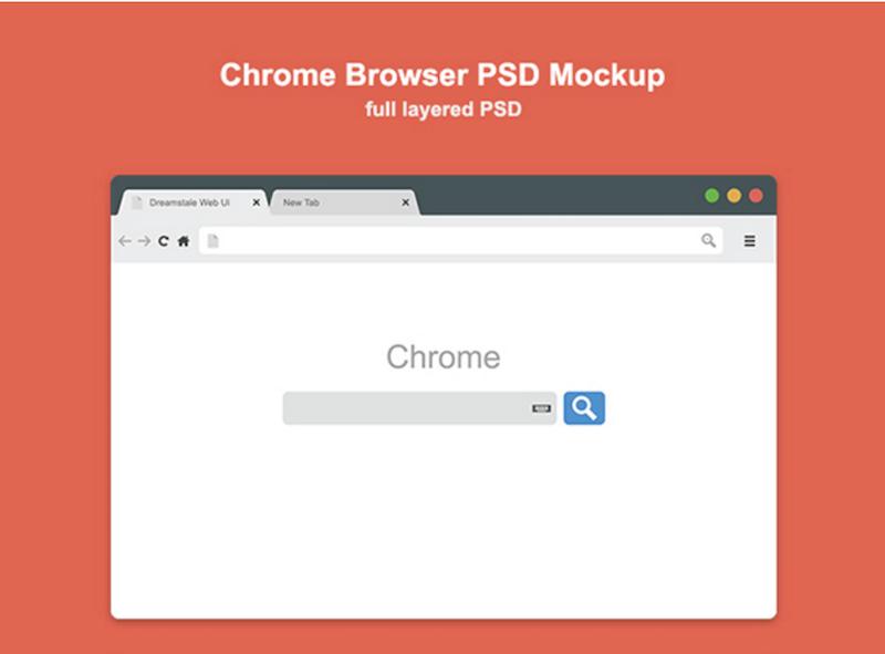 Chrome Browser Mockup (Freebie)
