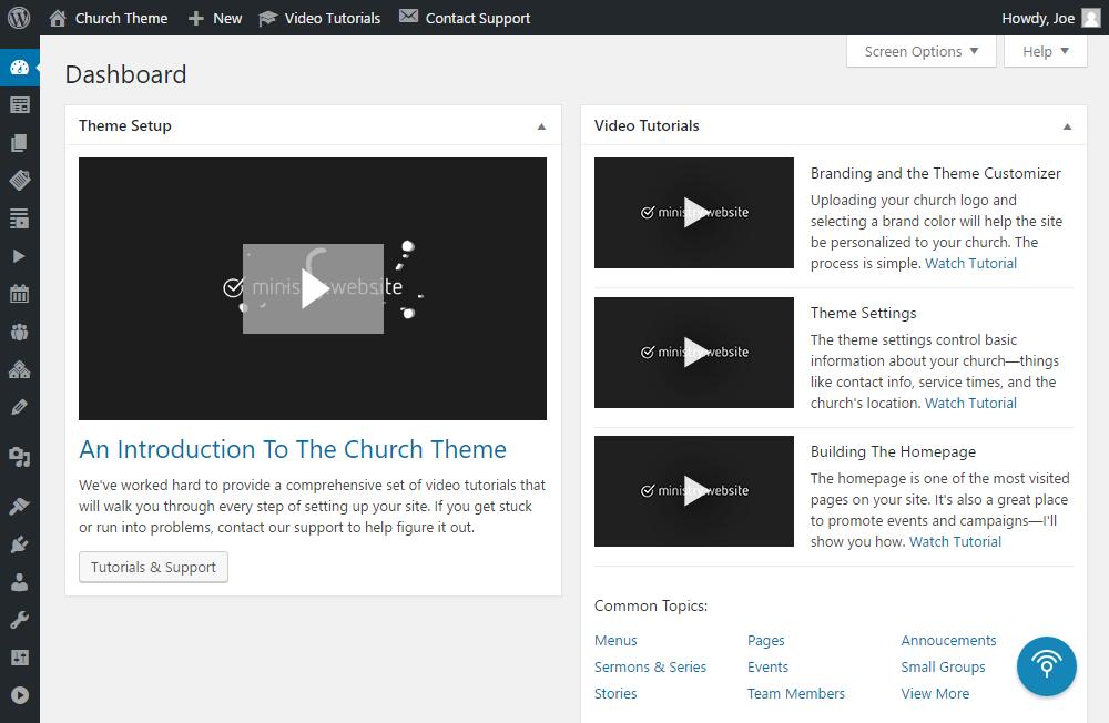Church Theme Review Dashboard