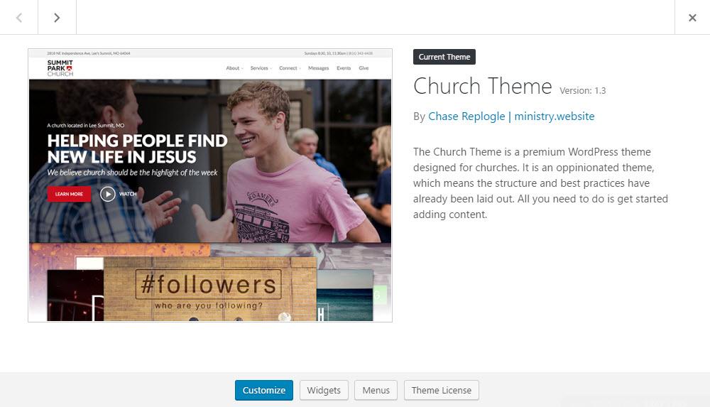Church Theme Review