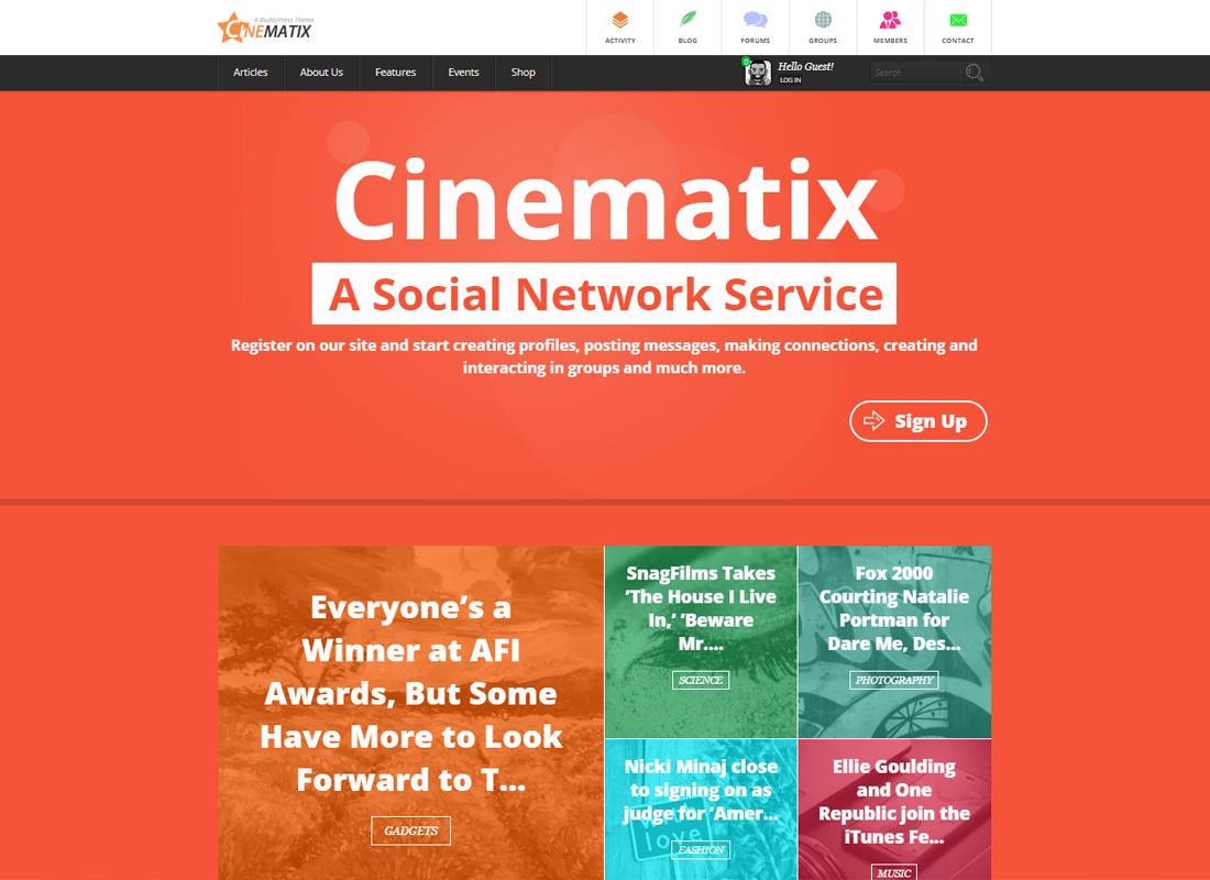 Cinematix   BuddyPress Community Theme