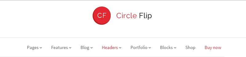 Circle Flip Header Options