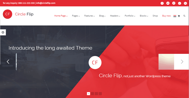 Circle Flip Theme Review