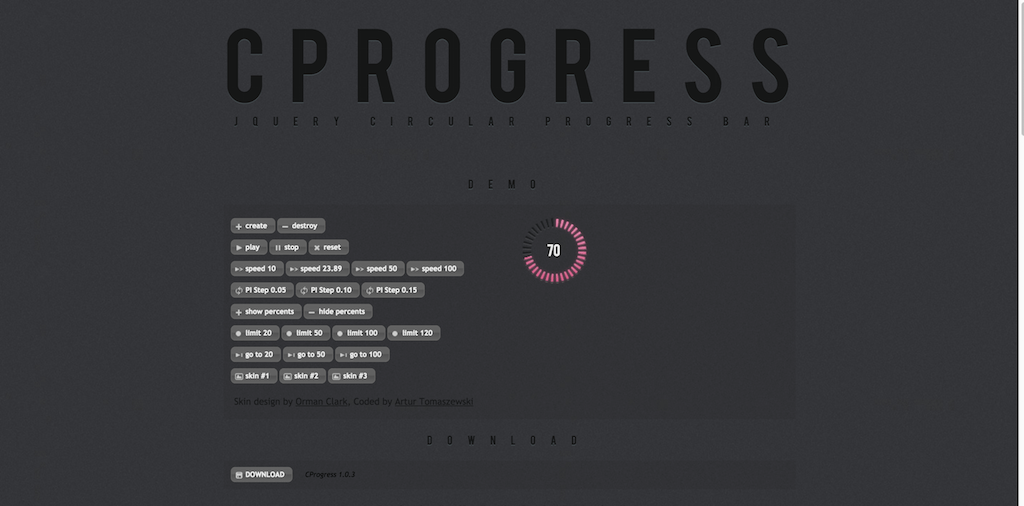 Circular Progress Bar jQuery plugin