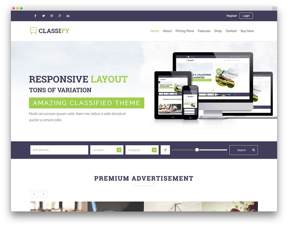 best wordpress classifieds directory themes 2017 colorlib classify classified template