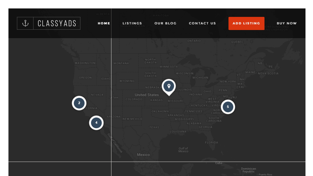 ClassyAds WordPress Theme Review Map