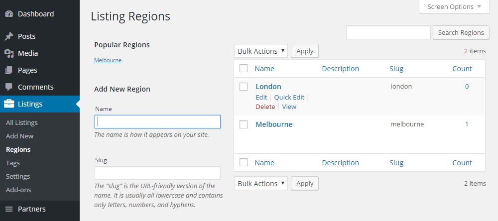 ClassyAds WordPress Theme Review Regions