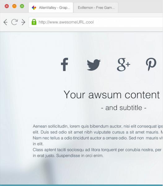 Clean Browser Mockup