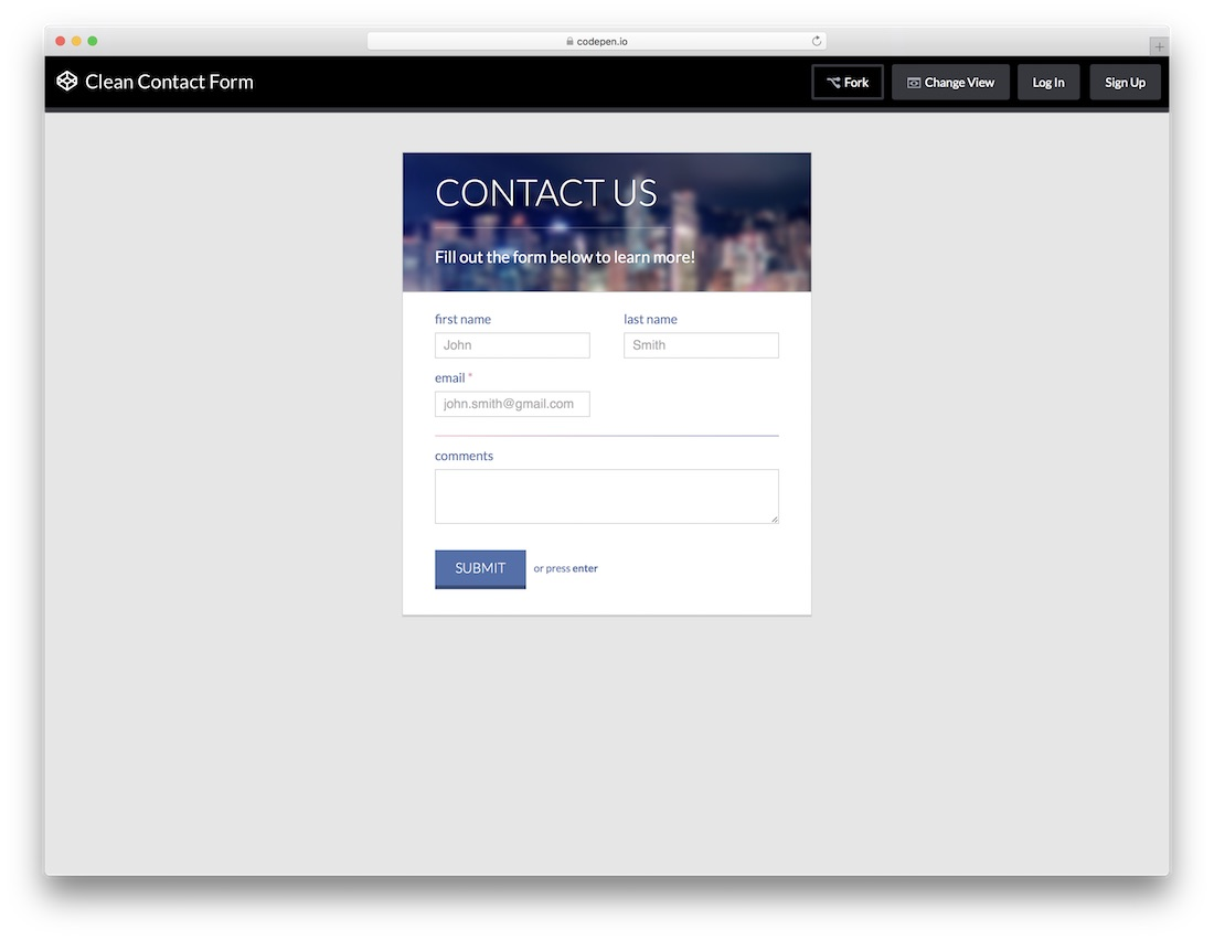 To acquire Contact stylish form css picture trends