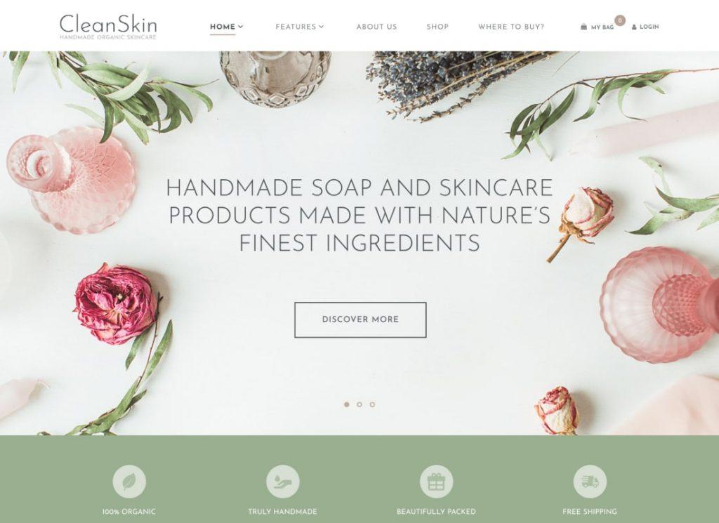 Handmade Organic Soap & Natural Cosmetics Shop WordPress Theme