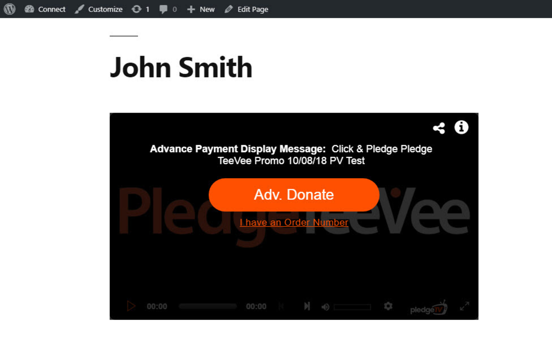 Click & Pledge Connect Plugin by Click & Pledge demo page