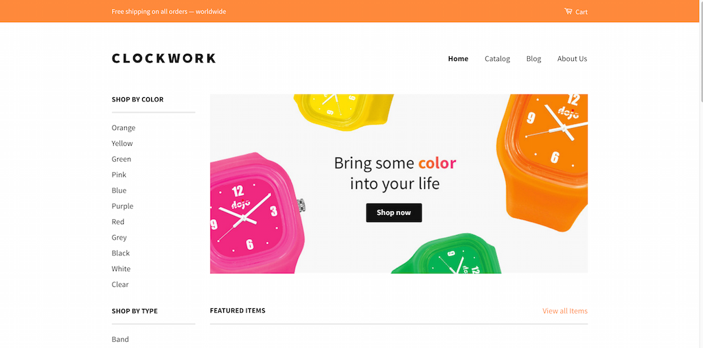 Clockwork Classic Theme by Shopify