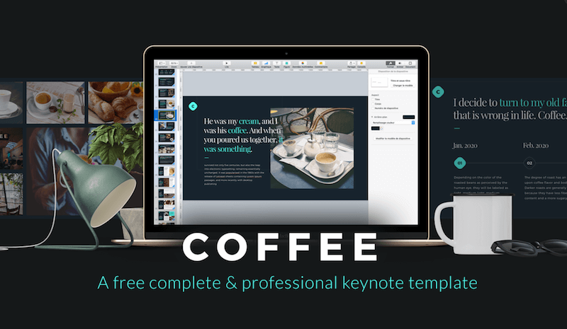 Top 30 free templates for apple keynote 2018 colorlib in any case youve found the keynote template for you from leser loic it goes without saying that the coffee template can maxwellsz
