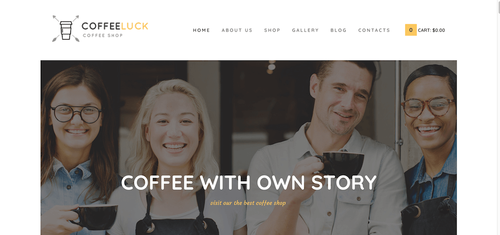 CoffeeLuck – Coffee Shop