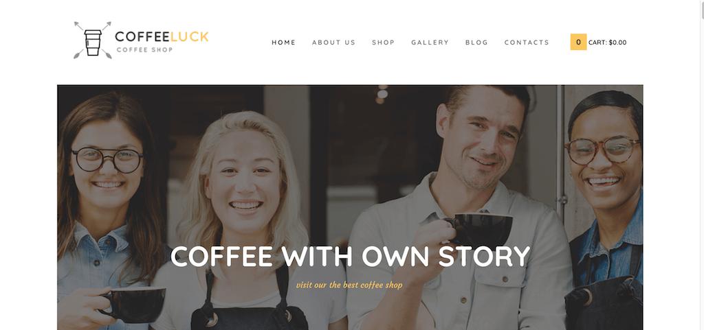 CoffeeLuck – Coffee Shop