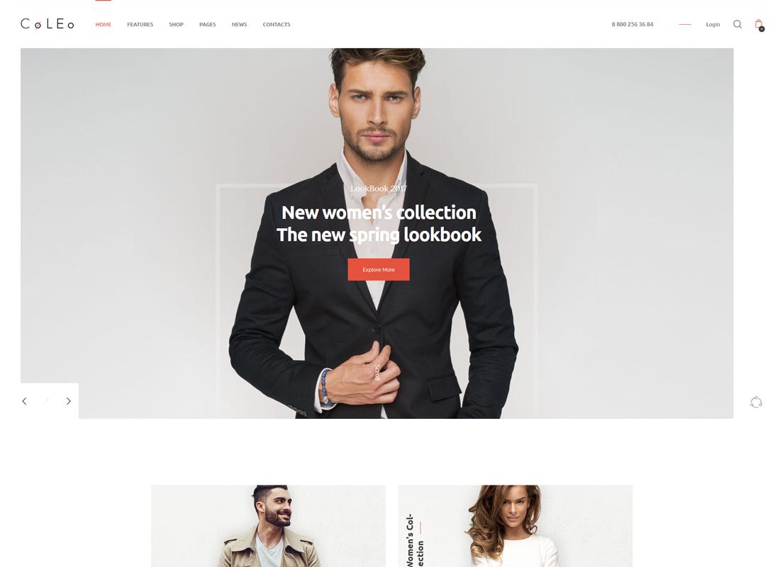 Coleo - A Stylish Fashion Clothing Store WordPress Theme