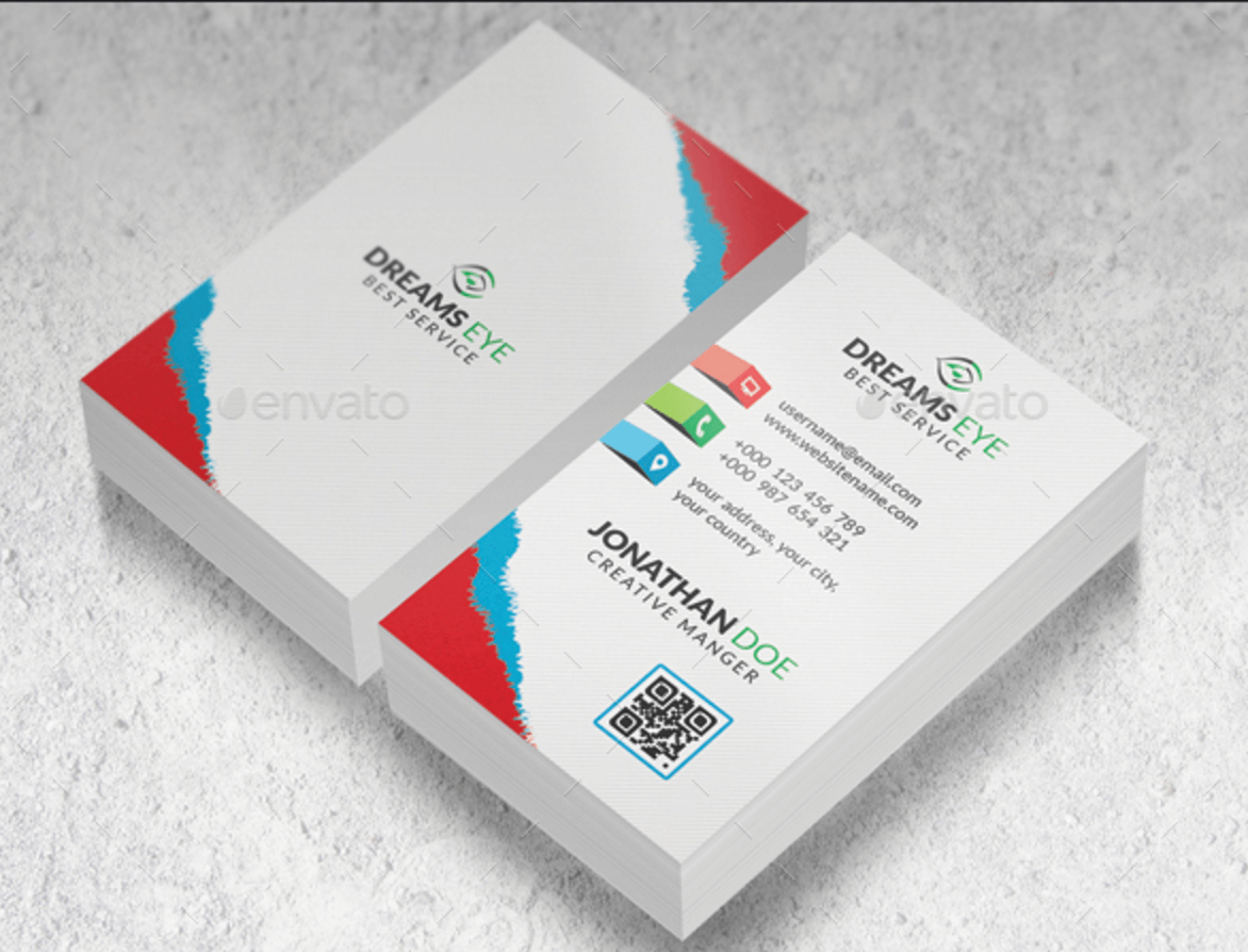 Top 22 free business card psd mockup templates in 2018 colorlib color business card v11 graphicriver reheart Gallery