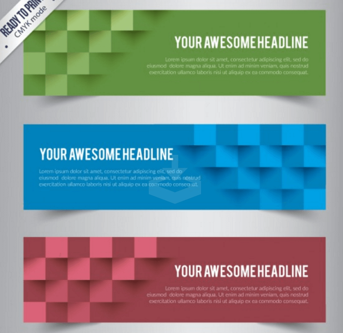 top banners templates in psd ai colorlib colorful abstract cubes banners