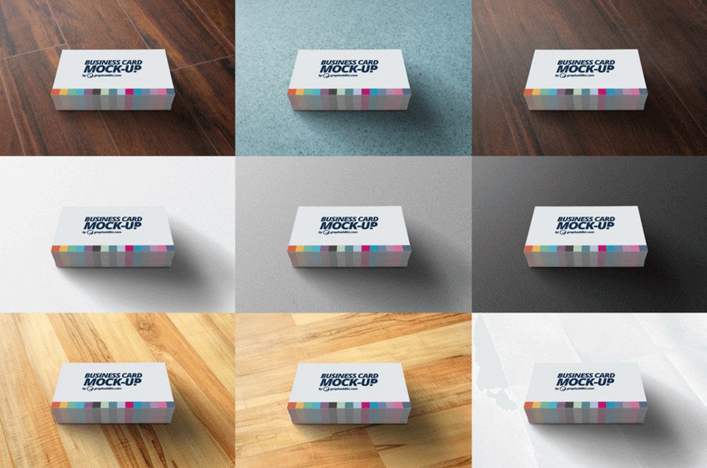Colorful Business Card Mockup by Eric Graphaddikt