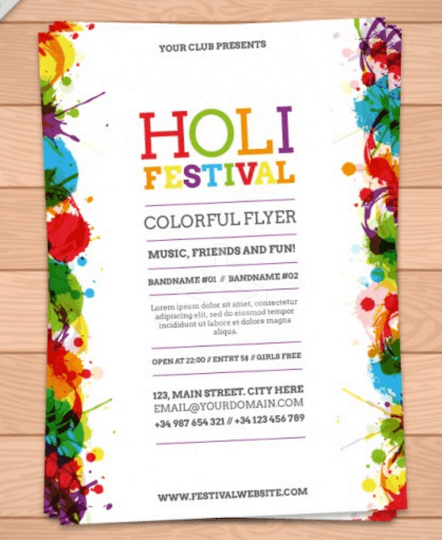Colorful Flyer for Festivals