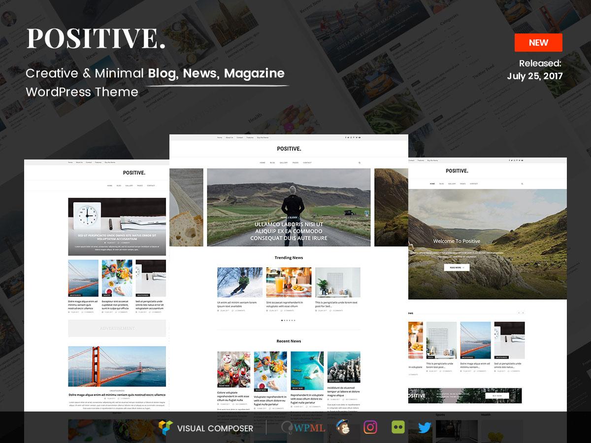 Positive – Blog, News, Magazine WordPress Theme