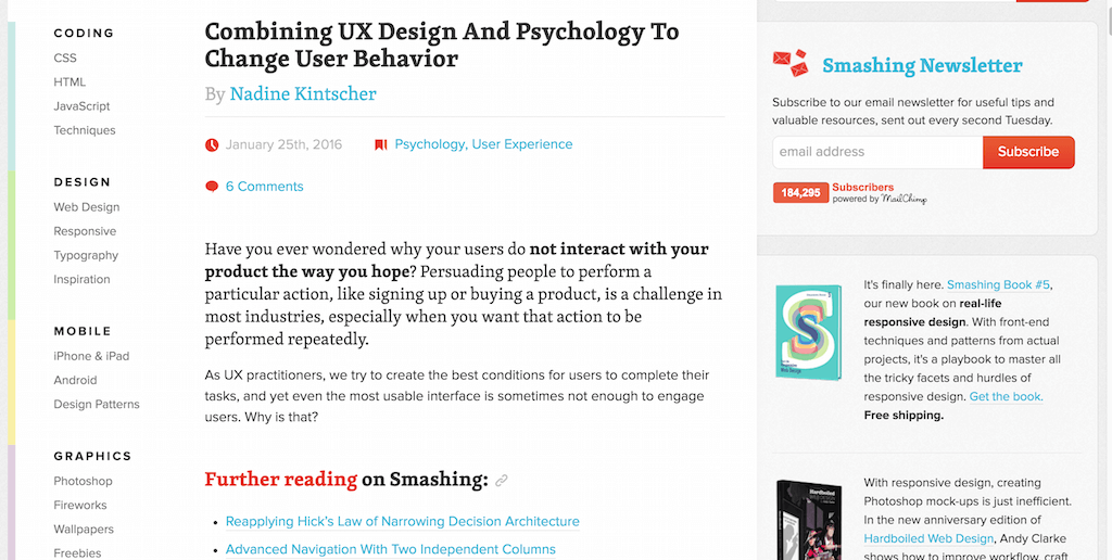 Combining UX Design And Psychology To Change User Behavior