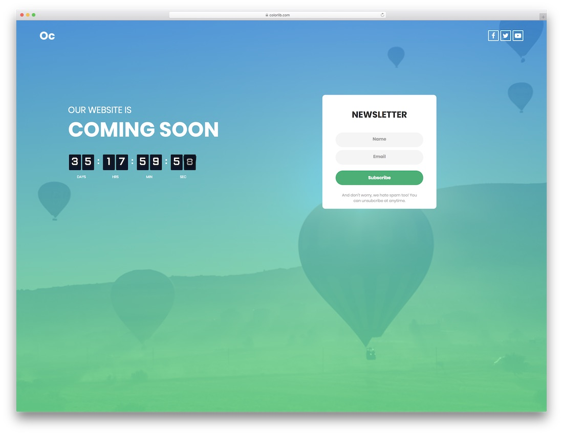 26 Free Under Construction & Coming Soon Website Templates