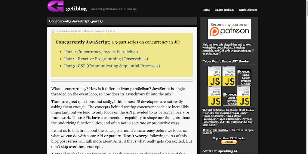 Concurrently JavaScript 1 getiblog