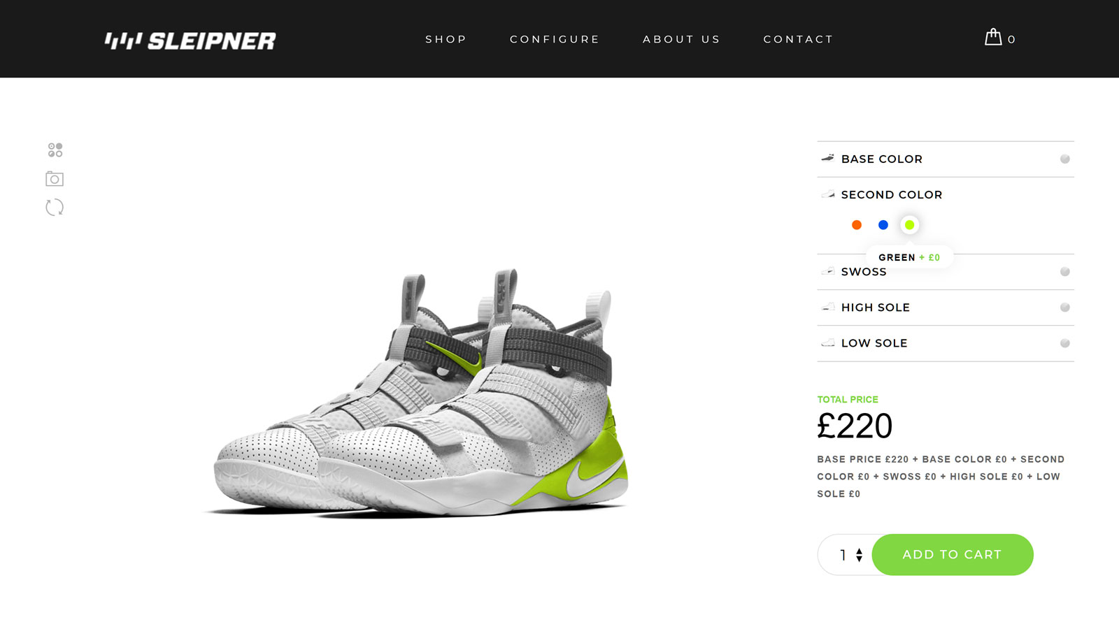 Configurator Shoe Customizer