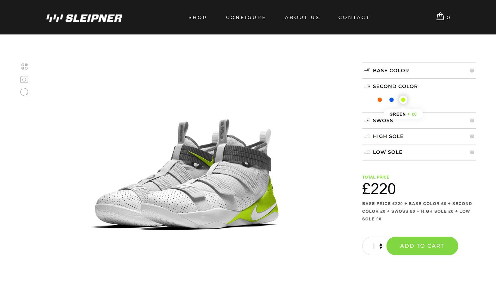 Configurator Shoe Customizer