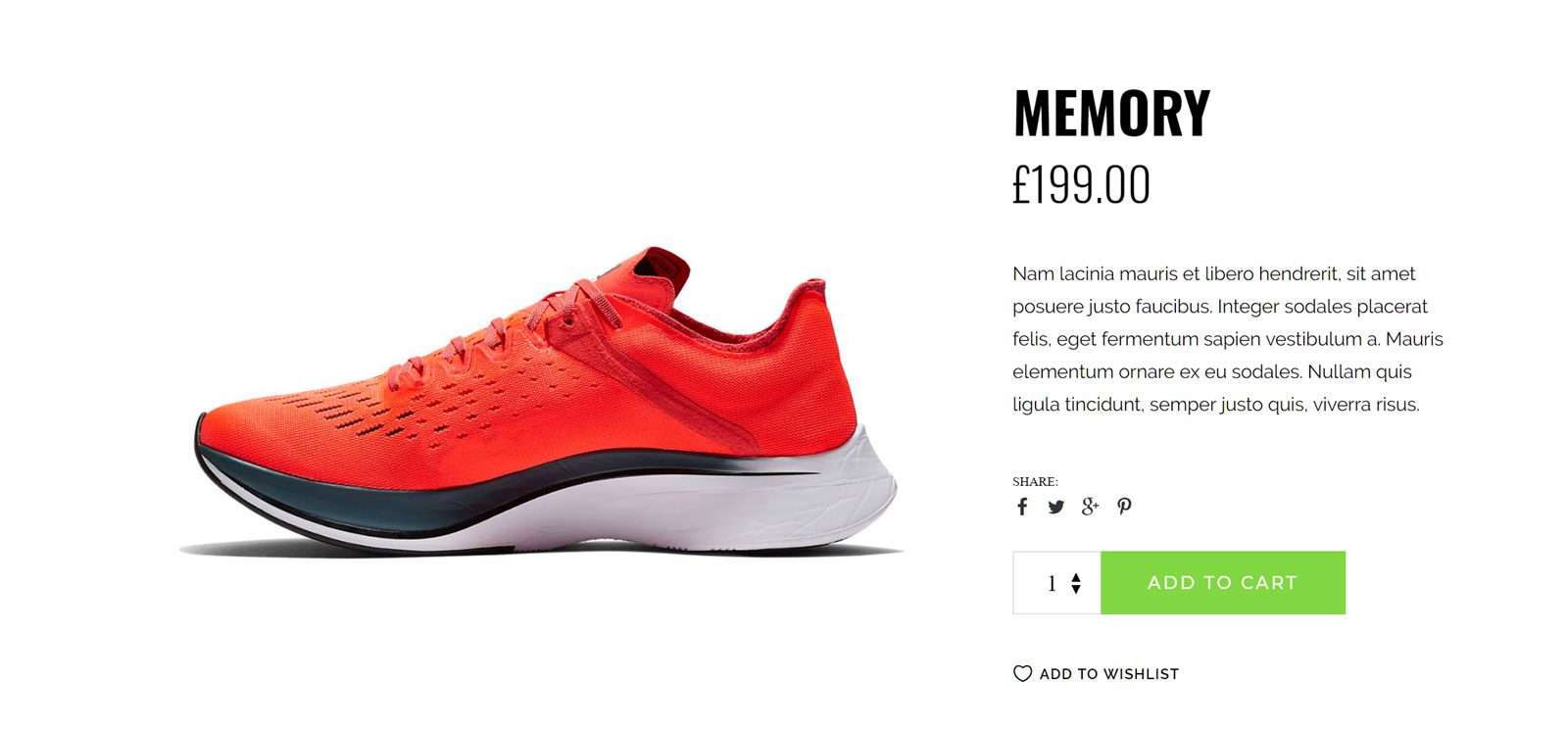 Sneaker Product Demo