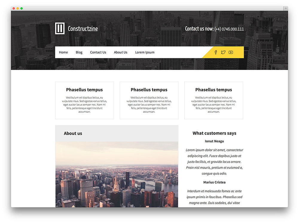 Constructzine WordPress theme