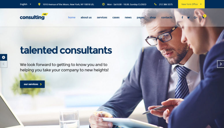 Consulting Business And Finance WordPress Theme Review