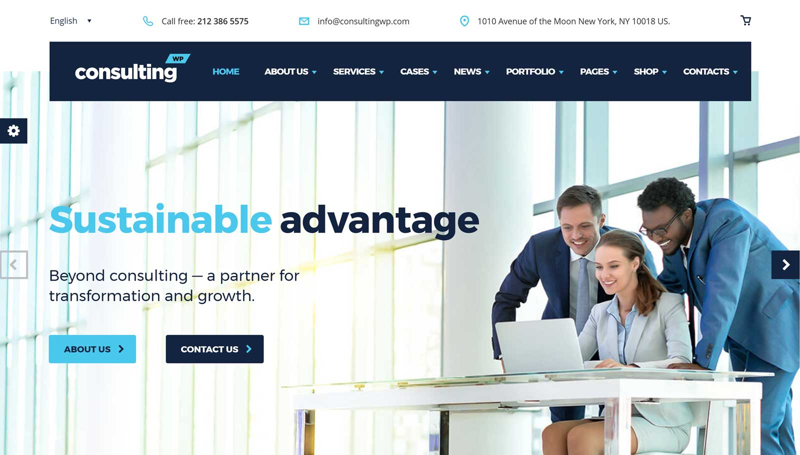 Consulting WordPress Theme Review