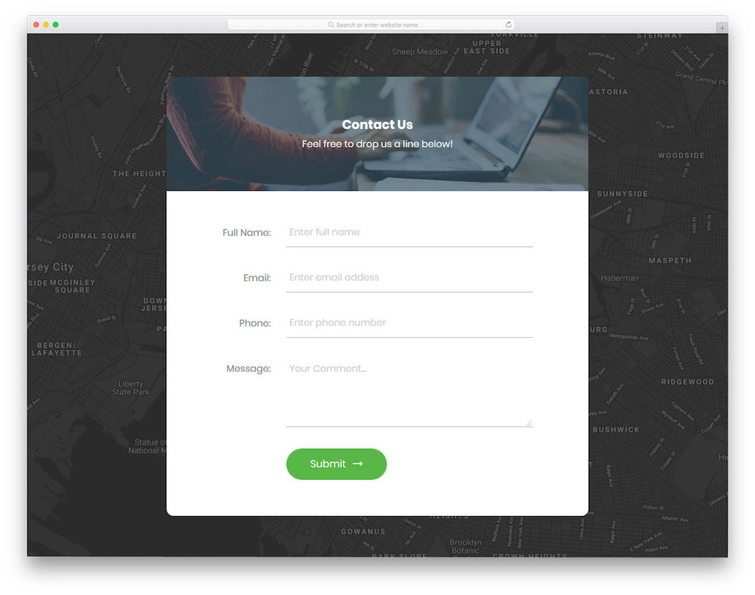Contact Us Website >> Top 20 Free Html5 Css3 Contact Form Templates 2019 Colorlib