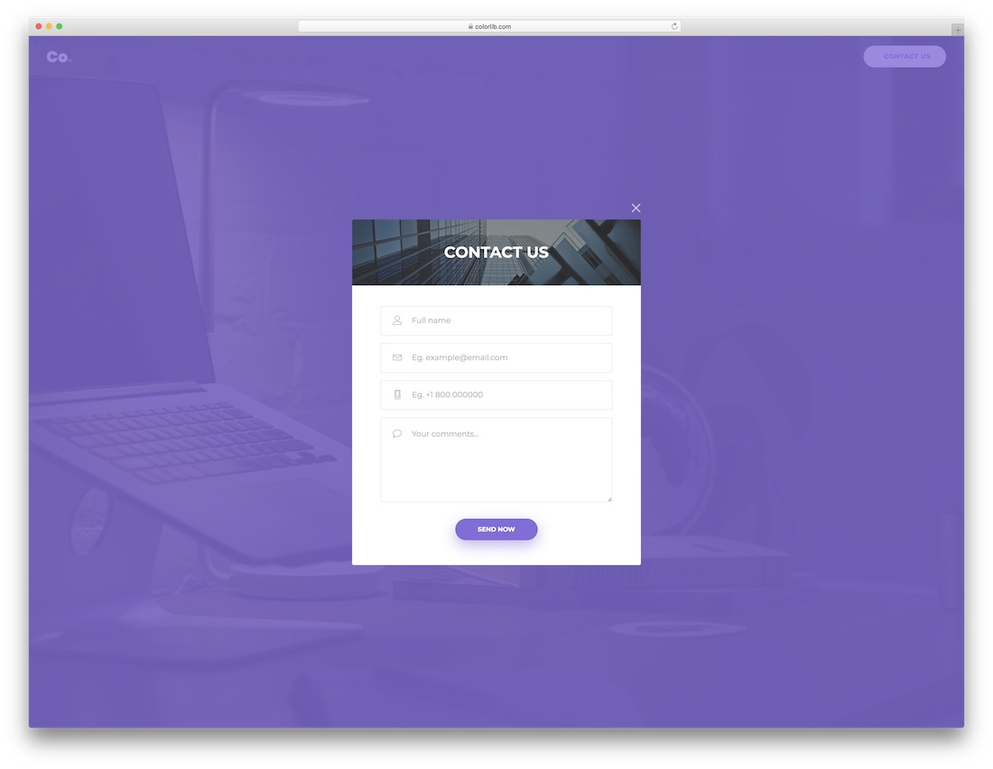 Top 36 Free HTML5 & CSS3 Contact Form Templates 2018 - Colorlib