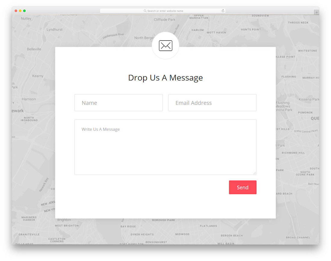 A Somewhat Similar Design To The Contact Form 8 With An Even More Simple And Minimal Section You Get Free HTML5 Page Template