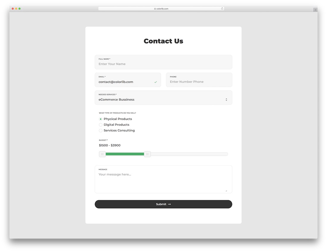 Contact Form 5 Is A Crystal Clear Free HTML5 Template With Minimal Approach You Can Use This Particular One Agencies And Even Personal