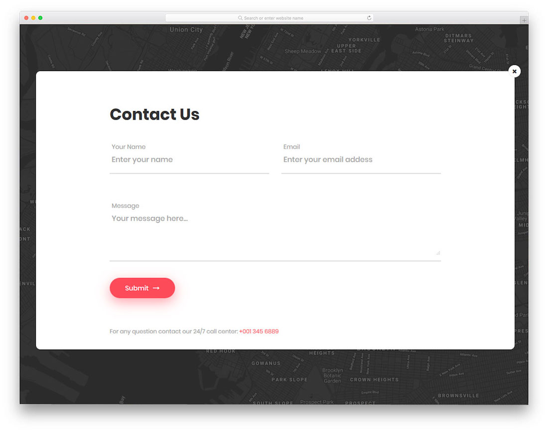 Top 20 Free HTML5 & CSS3 Contact Form Templates 2019 - Colorlib