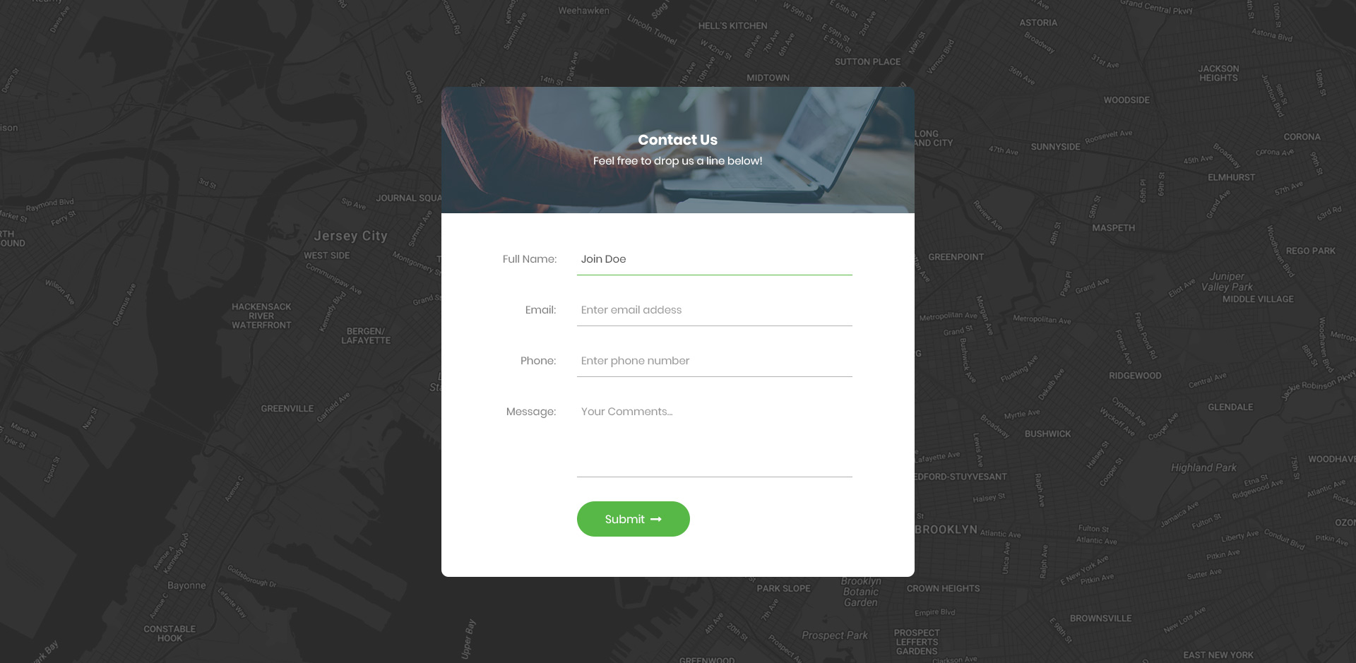 Top 30 Free HTML5 & CSS3 Contact Form Templates 2018 - Colorlib