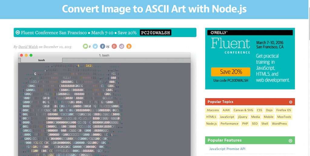 Convert Image to ASCII Art with Node.js