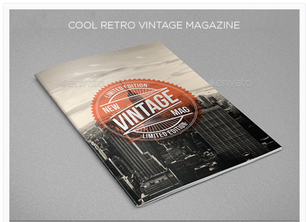 Maqueta de revistas: Revista Cool Vintage Retro