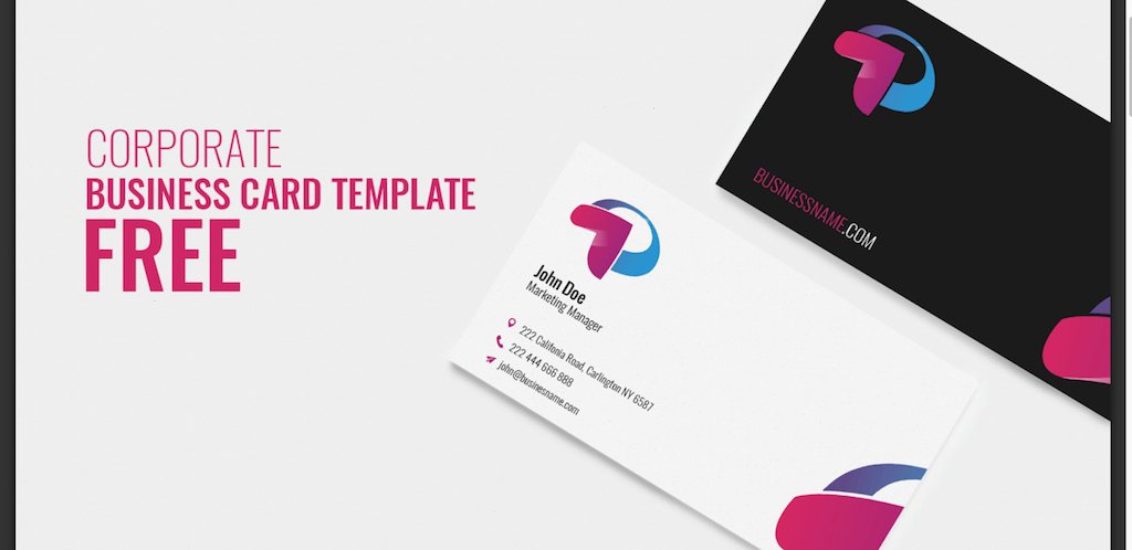 Top 18 free business card psd mockup templates in 2018 colorlib corporate business card reheart Images