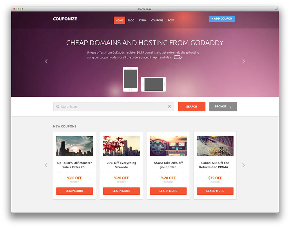 Best Free And Premium Wordpress Daily Deal Themes And