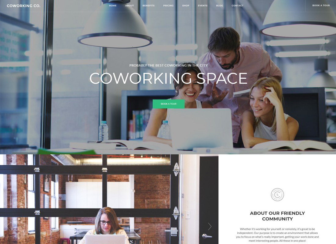 Coworking Co.   Creative Space WordPress Theme