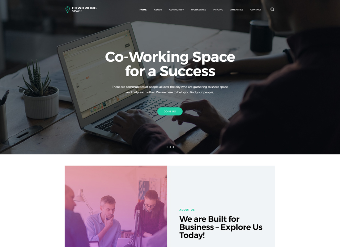 Coworking | Open Office & Creative Space WordPress Theme